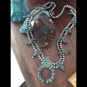 Jewelry - Turquoise Sterling Silver old Squash Blossom